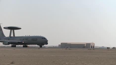 A-Us-Air-Force-E3-Sentry-Awacs-Plane-Prepares-For-Takeoff-1