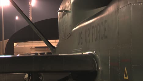 The-Rq4-Drone-Surveillance-Aircraft-Is-Rolled-Out-At-Night-And-Prepared-For-A-Mission