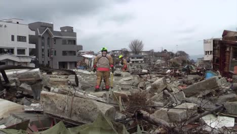 Search-And-Rescue-Teams-Hunt-For-Survivors-Following-The-Devastating-Earthquake-And-Tsunami-In-Japan-In-2017