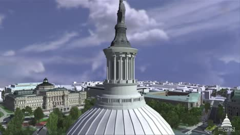 An-Animated-Fly-By-Of-The-United-States-Capitol-Building-In-Washington-Dc