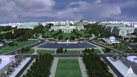 An-Animated-Fly-Over-Over-The-National-Mall-In-Washington-Dc