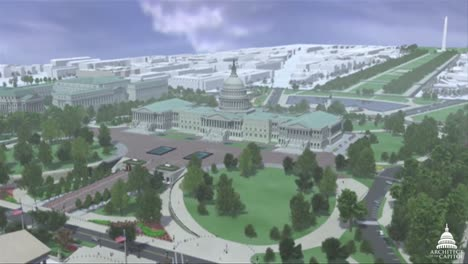 An-Animated-Fly-By-Of-The-United-States-Capitol-Building-In-Washington-Dc-In-Four-Different-Seasons