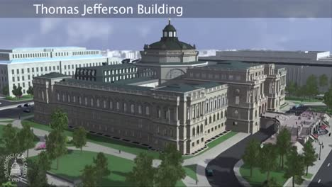 An-Animated-Fly-By-Of-The-United-States-Library-Of-Congress-Building-In-Washington-Dc