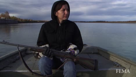 Native-American-Indians-Go-Hunting-In-Alaska-On-A-River-1