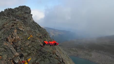 An-Injured-Hiker-Is-Transported-To-Safety-By-A-Helicopter-Search-And-Rescue-Team-With-Colorados-National-Guard