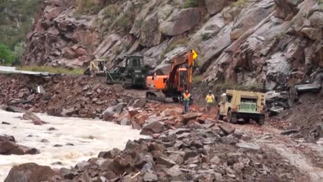 A-Flood-Causes-Severe-Damage-Along-Roadways-In-Colorado