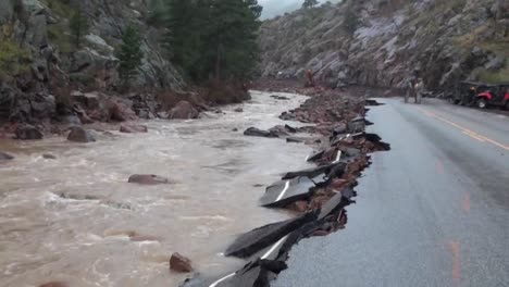 A-Flood-Causes-Severe-Damage-Along-Roadways-In-Colorado-2