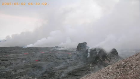 Time-Lapse-Footage-Of-A-Lava-Field