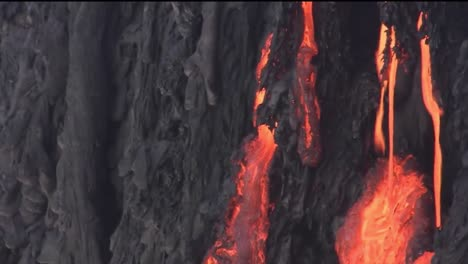 Molten-Lava-Flows-From-A-Volcano