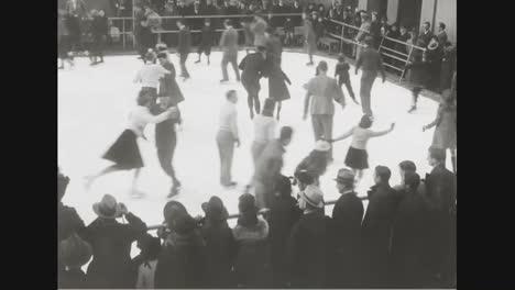 Los-Patinadores-Sobre-Hielo-Patinan-En-La-Nueva-Pista-De-La-Ciudad-De-Nueva-York-En-1937