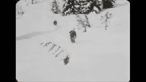 Avalanches-In-The-Canadian-Rockies-In-1957