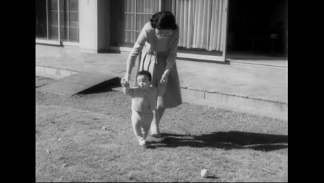 Prince-Of-Japón-Turns-1-Year-Old-In-1961