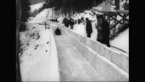Great-Britain-Takes-Gold-In-Bobsledding-In-The-1964-Winter-Olympics