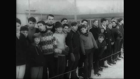A-Chimpanzee-Ice-Skates-In-Germany-In-1963