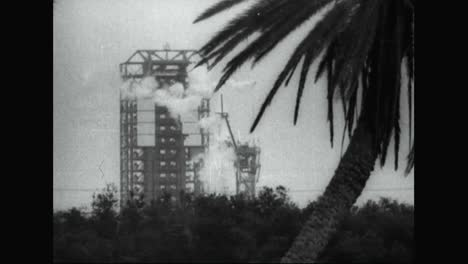 A-Rocket-Explodes-Just-After-Takeoff-At-Cape-Kennedy-In-1965