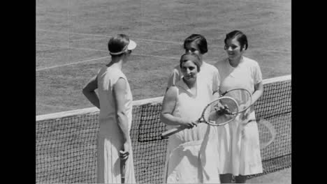 A-Womans-Tennis-Match-In-1931