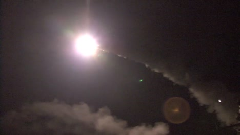 A-Us-Navy-Ship-Launches-Tomahawk-Missiles-Towards-Libyan-Targets-During-Operation-Odyssey-Dawn-2