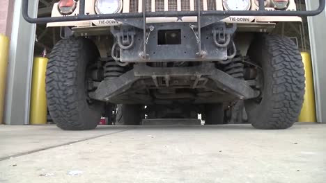 Military-Vehicle-Drives-Directly-Over-Camera
