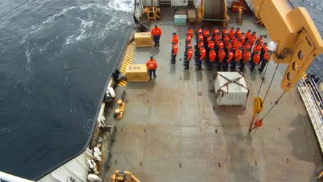 The-Coast-Guard-Cutter-Juniper-Conducts-A-Solemn-Ceremony-At-The-Site-Where-The-Titanic-Sank