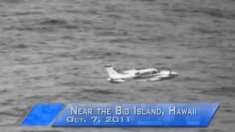 News-Style-Footage-Of-A-Light-Plane-Crashing-Into-The-Ocean