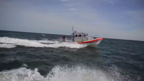 A-45-Foot-Coast-Guard-Cutter-Response-Boat-Responds-To-An-Emergency