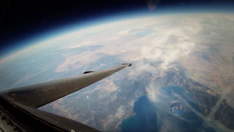 A-View-Of-Earth-From-A-U2-Spy-Plane-In-Flight
