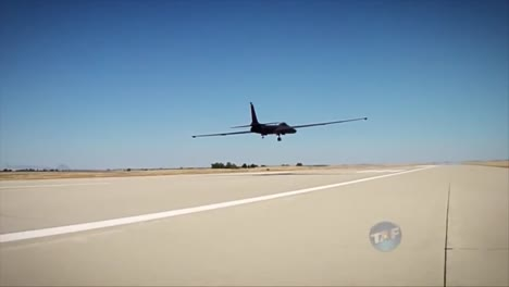 The-U2-Spy-Plane-Comes-In-For-A-Landing-On-A-Runway