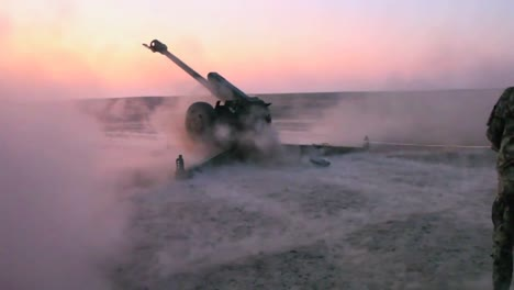 Afghan-Soldiers-Fire-Artillery-At-The-Enemy