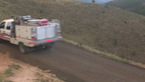Fire-Trucks-And-Emergency-Vehicles-Make-Their-Way-To-The-High-Park-Fire-In-Colorado