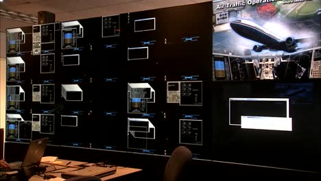 Nasa-Scientists-Research-In-A-Lab-For-Monitoring-Air-Traffic-Control-Status-Of-Individual-Airplanes