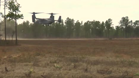 The-Osprey-Cv22-Helicopter-Lands-In-A-Field