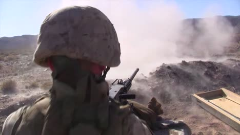 Marines-Fire-The-M240-Machine-Guns-In-A-Training-Exercise-In-Afghanistan