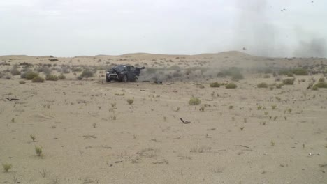 The-Army-Blows-Up-A-Car-In-The-Desert