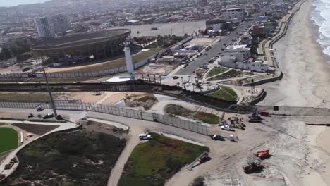 Aerial-Along-The-Us-Mexico-Border-Near-Tijuana