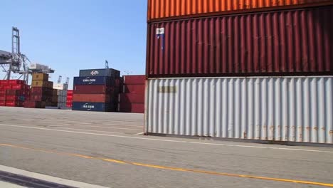 Various-Shots-At-The-Port-Of-Long-Beach-Including-Cranes-And-Containers-2
