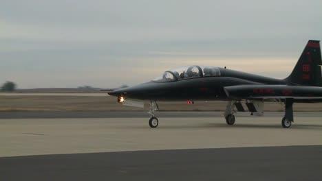 An-Air-Force-T38-Talon-Taxis-On-A-Runway