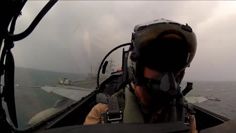 Pov-Shot-From-Jet-Fighter-Plane-Taking-Off-From-An-Aircraft-Carrier