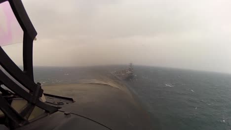 Pov-Shot-From-Jet-Fighter-Plane-Landing-On-An-Aircraft-Carrier