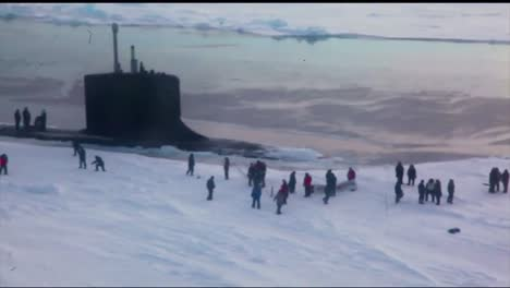 An-Aerial-Over-A-Submarine-In-The-Arctic
