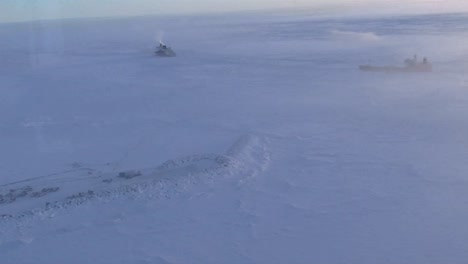 Aerial-Over-A-Ship-Stuck-In-Ice