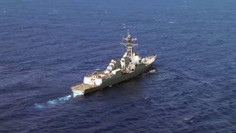Aerials-Above-A-Navy-Destroyer-Ship