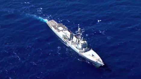 Aerials-Above-A-Navy-Destroyer-Ship-1