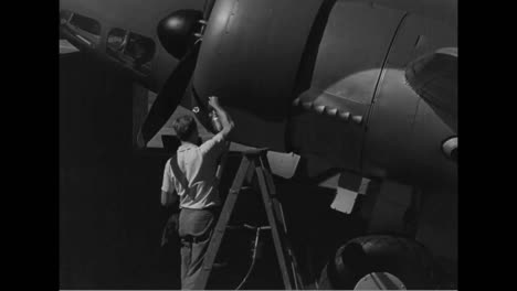 Air-Force-Planes-Are-Constructed-In-Los-Angeles-In-1939