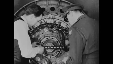 The-Wheel-Of-A-B29-Airplane-Goes-Through-Tests-In-The-1940S