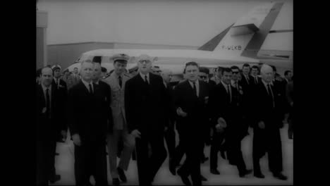 President-De-Gaulle-Attends-A-French-Air-Show-In-1963