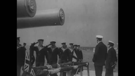 British-Naval-Officers-In-March-In-1918