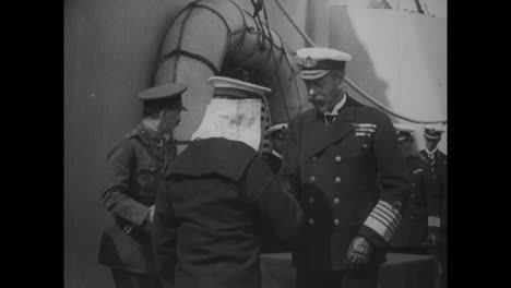 British-Sailors-Are-Awarded-Medals-For-Their-Gallantry-In-1918