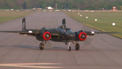 Vintage-Classic-Ww2-Era-Airplanes-Taxi-And-Take-Off-From-An-Airshow