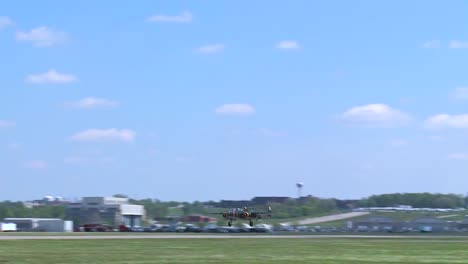 Vintage-Classic-Ww2-Era-Airplanes-Taxi-And-Take-Off-From-An-Airshow-1