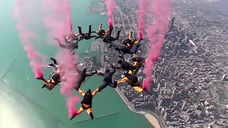 Pov-Go-Pro-Skydiving-Footage-Of-The-Us-Army-Golden-Knights-Parachuting-Team-1